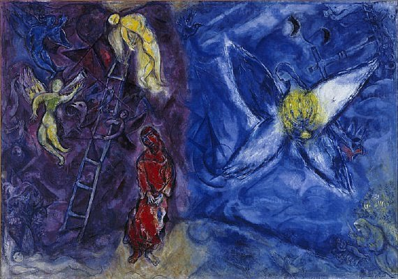 Painting by Marc Chagall, Jacob's Dream