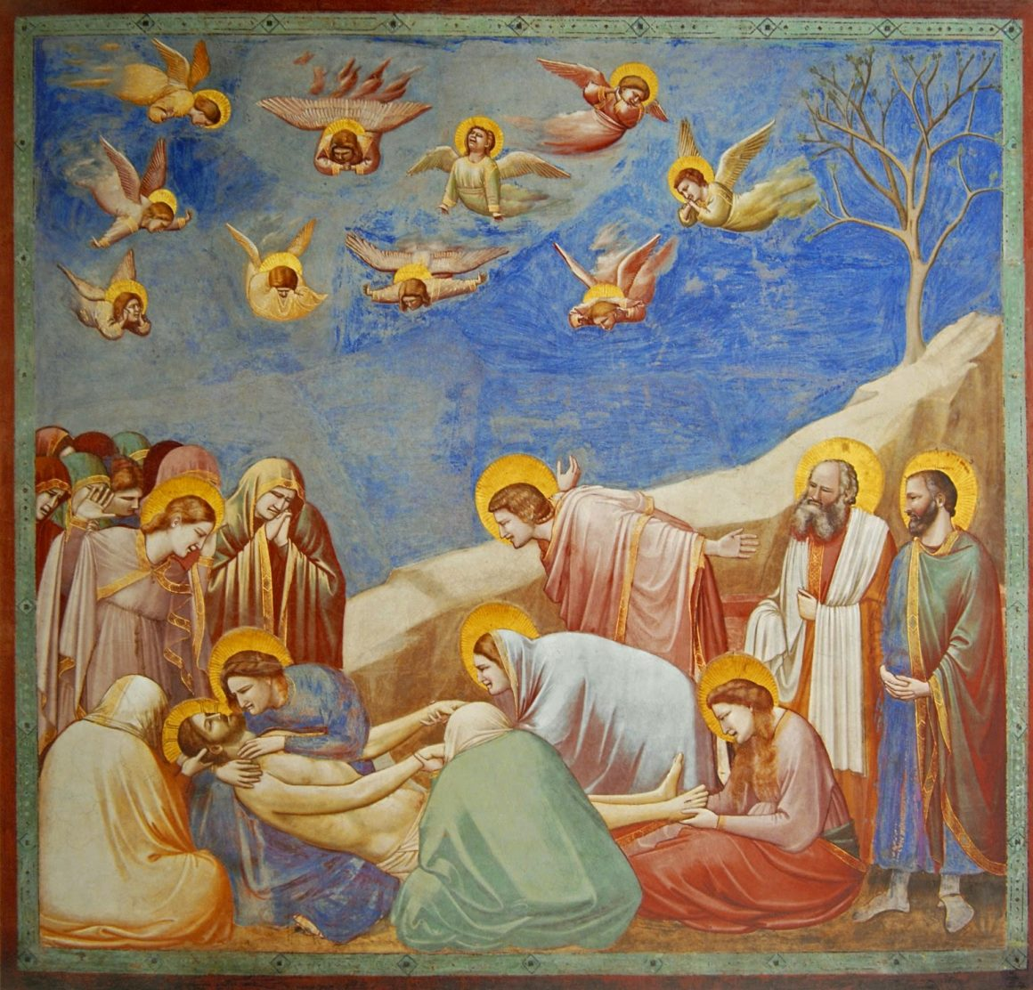 Lamentation painting by Giotto