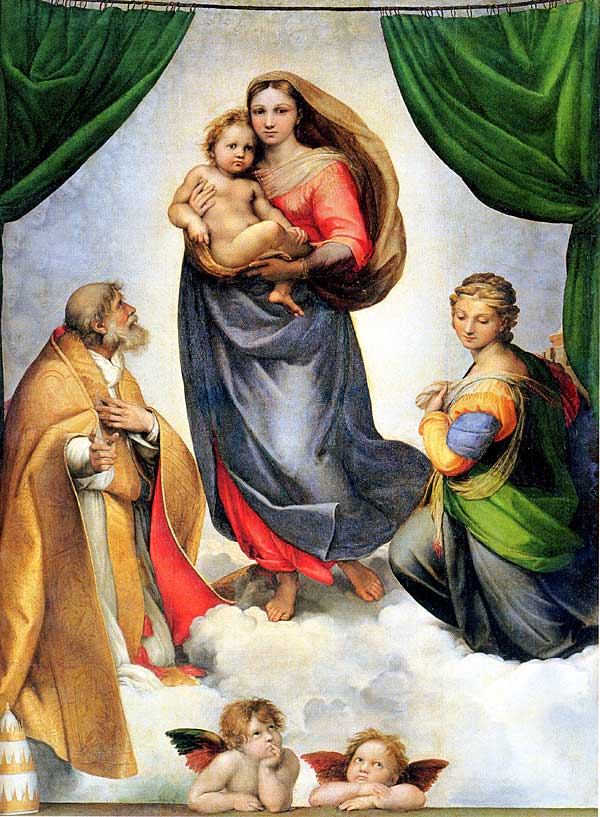 Angels: The Sistine Madonna by Raphael