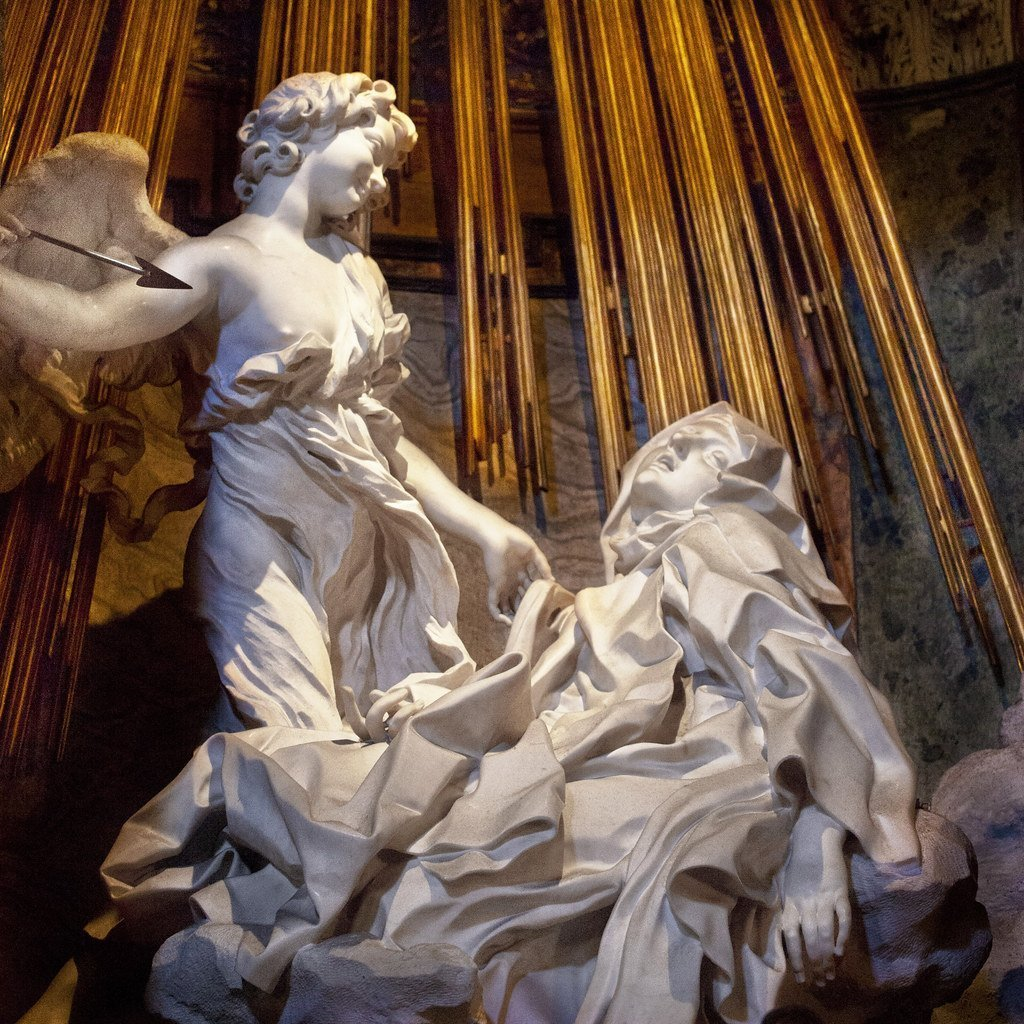 Sculpture by the name of The ecstasy of St. Theresa by Bernini